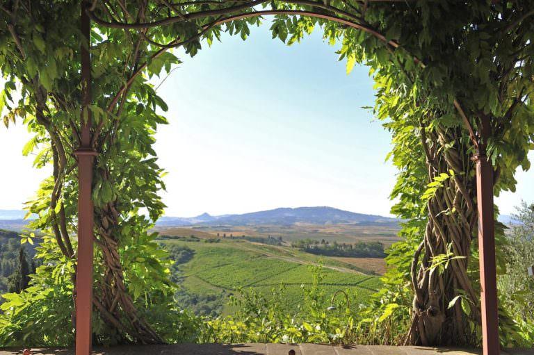 Vista panoramica su Volterra