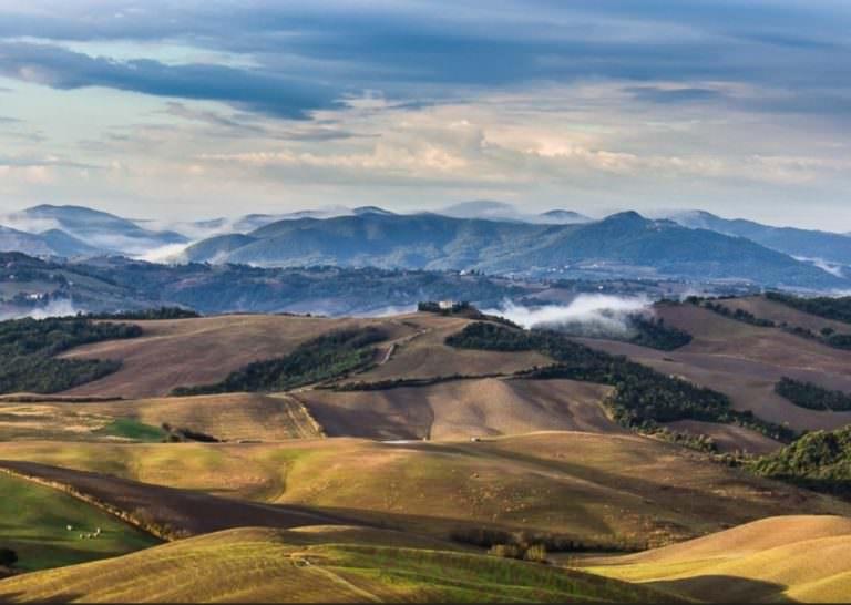 Vista panoramica sulle colline volterrane