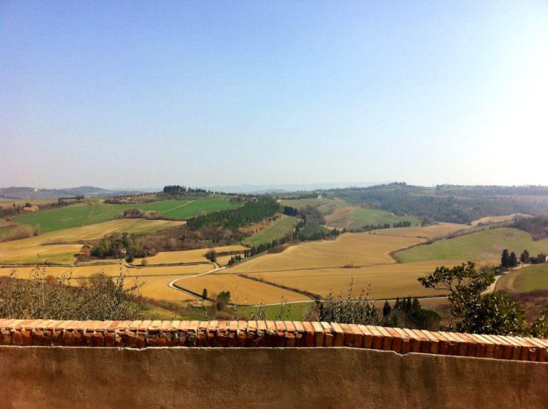 La zona rurale delle colline Pisane