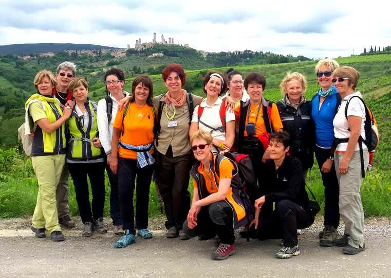 Camminare con le amiche in Toscana