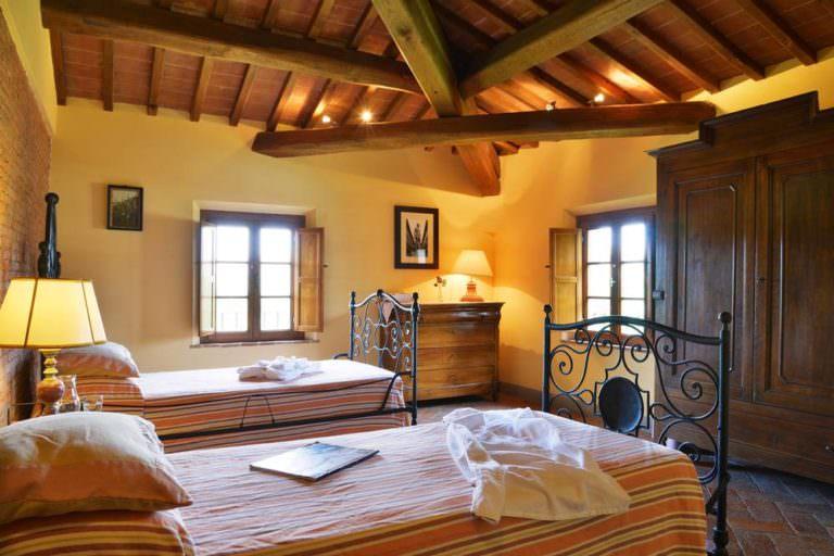 Tipica camera di cascinale in provincia di Pisa
